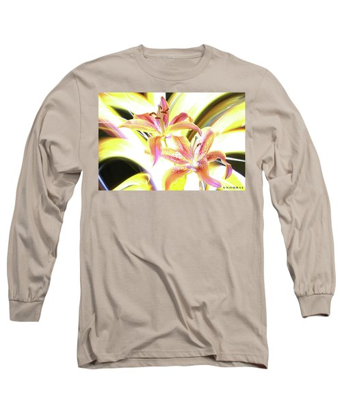 Lily Burst Long Sleeve T-Shirt by Andrew Nourse