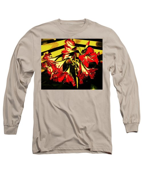 Long Sleeve T-Shirt featuring the digital art Lily Gem by Winsome Gunning
