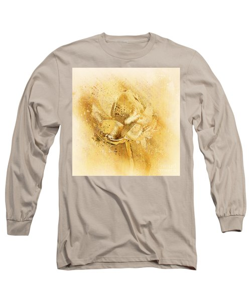 Long Sleeve T-Shirt featuring the digital art Lily My Lovely - S114sqc75v2 by Variance Collections
