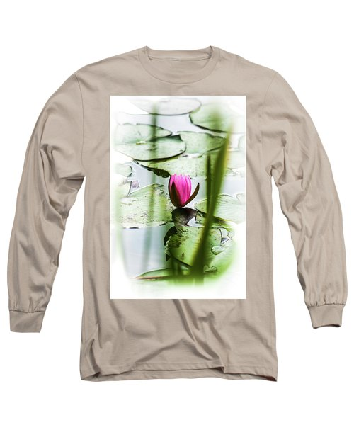 Lily Pad Red - 1001 Long Sleeve T-Shirt