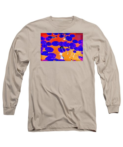 Lilypad Explosion Long Sleeve T-Shirt by Linda Olsen