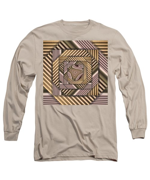 Long Sleeve T-Shirt featuring the digital art Line Geometry by Ron Bissett