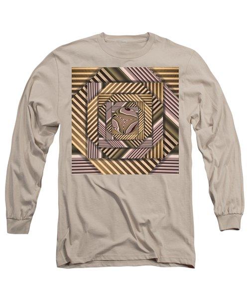 Line Geometry Long Sleeve T-Shirt