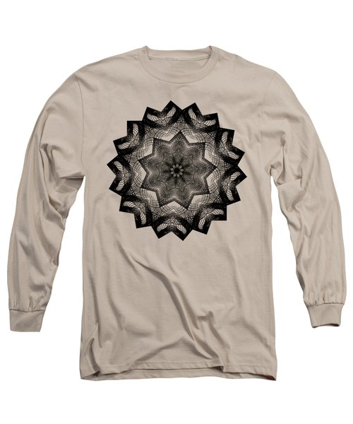 Lines In A Star By Kaye Menner Long Sleeve T-Shirt by Kaye Menner