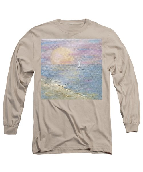 Long Sleeve T-Shirt featuring the painting Lingering Freedom by Judith Rhue