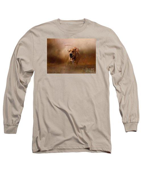 Lion Dog Long Sleeve T-Shirt by Mim White