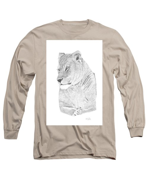 Lioness Long Sleeve T-Shirt by Patricia Hiltz