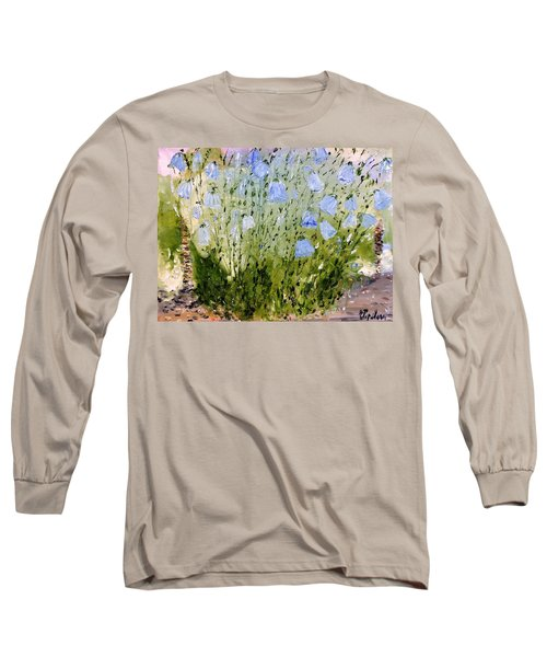 Long Sleeve T-Shirt featuring the painting Little Bells by Evelina Popilian