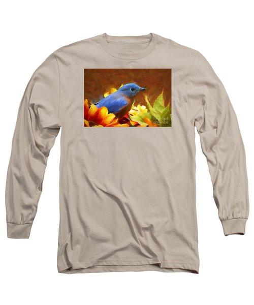 Little Boy Blue Long Sleeve T-Shirt by Tina  LeCour