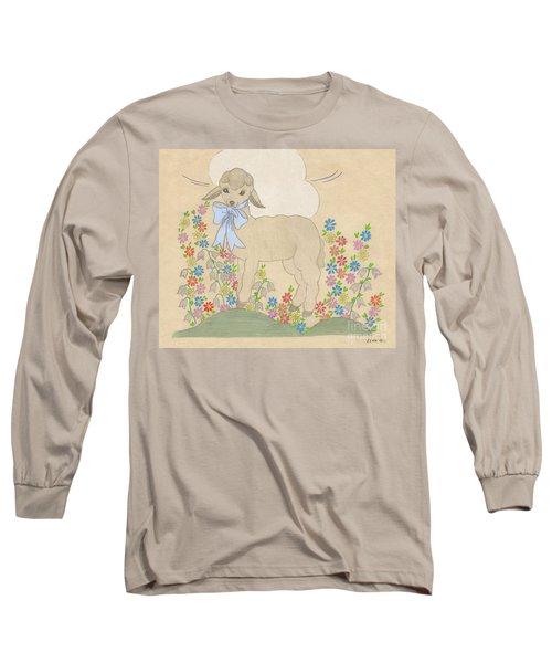 Little Lamb Lightened Long Sleeve T-Shirt