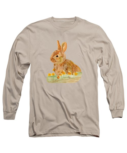 Little Rabbit Long Sleeve T-Shirt by Angeles M Pomata