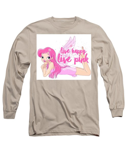Live Happy Test Long Sleeve T-Shirt