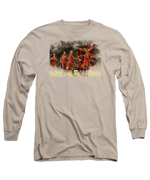 Liverpool V Leicester City Long Sleeve T-Shirt by Don Kuing