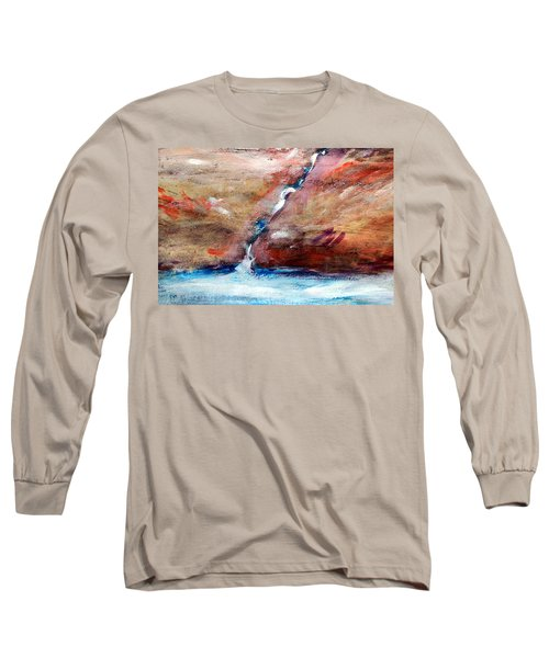 Long Sleeve T-Shirt featuring the painting Living Water by Winsome Gunning