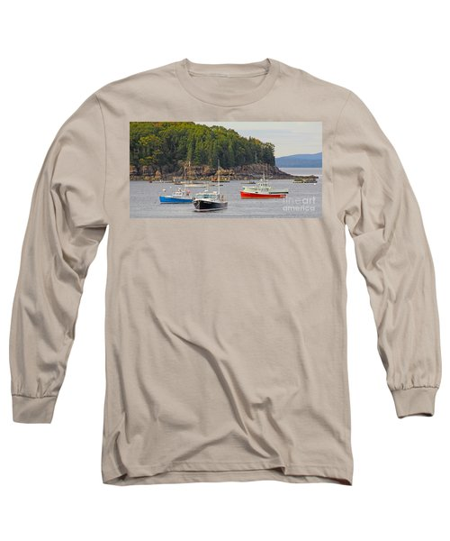 Lobster Boats In Bar Harbor Long Sleeve T-Shirt