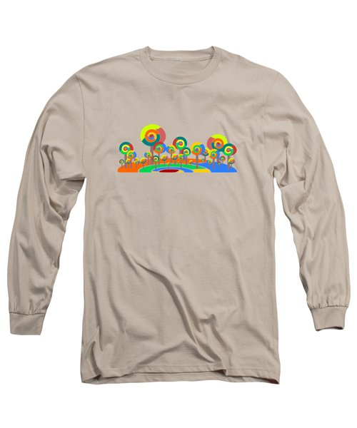 Lollypop Island Long Sleeve T-Shirt by Anastasiya Malakhova