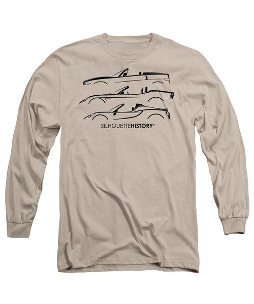 Lombard Roadster Silhouettehistory Long Sleeve T-Shirt by Gabor Vida