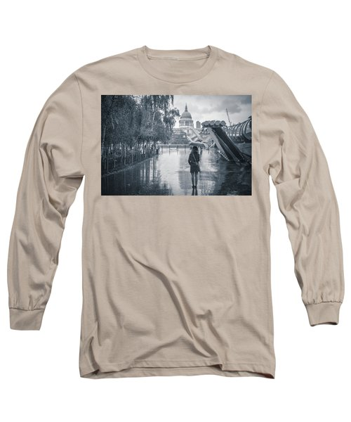 London Black And White Long Sleeve T-Shirt