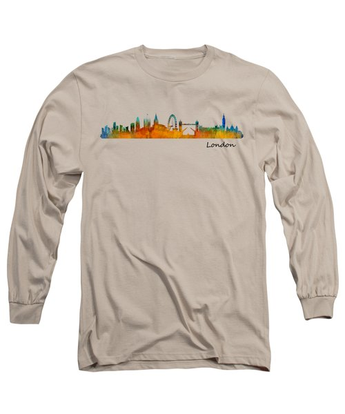 London City Skyline Hq V1 Long Sleeve T-Shirt