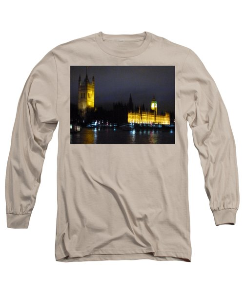 Long Sleeve T-Shirt featuring the photograph London Late Night by Christin Brodie