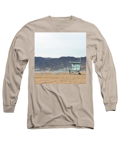 Lone Lifeguard Tower Long Sleeve T-Shirt
