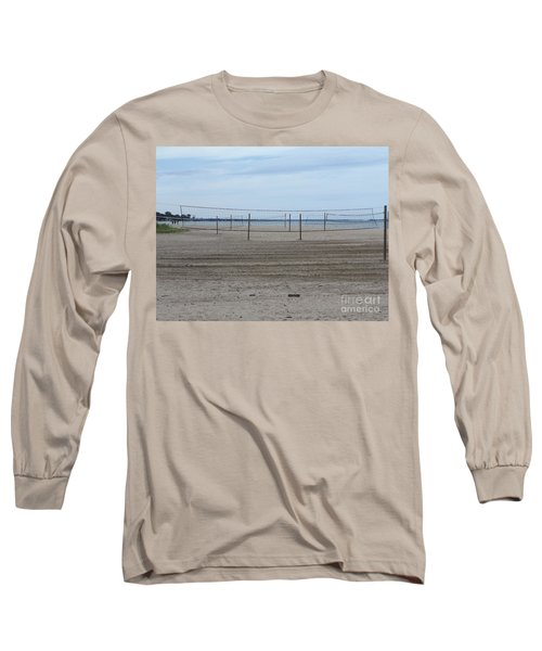 Lonely Beach Volleyball Long Sleeve T-Shirt by Erick Schmidt