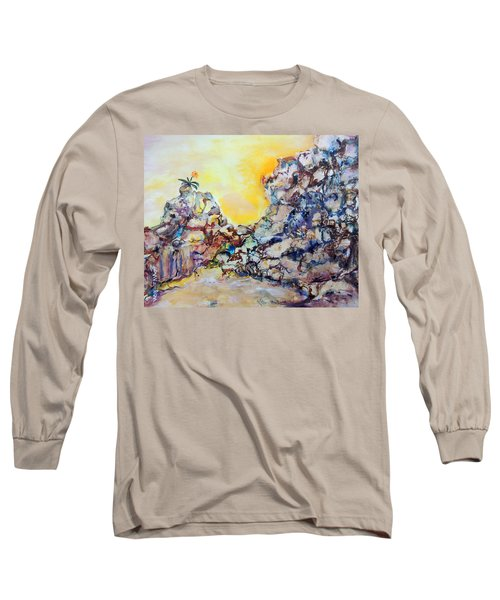 Lonely Flower Long Sleeve T-Shirt by Mary Schiros