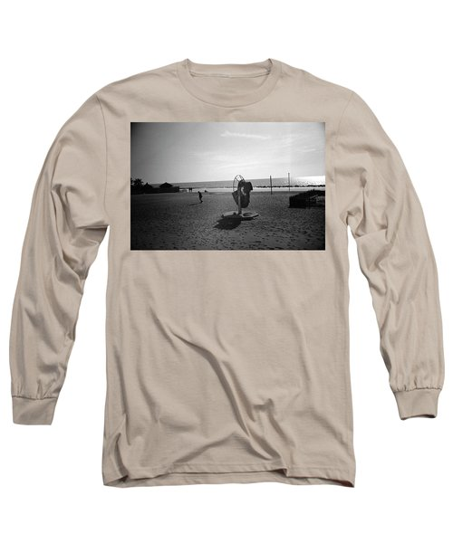 Lonely Man In Ostia Beach Long Sleeve T-Shirt