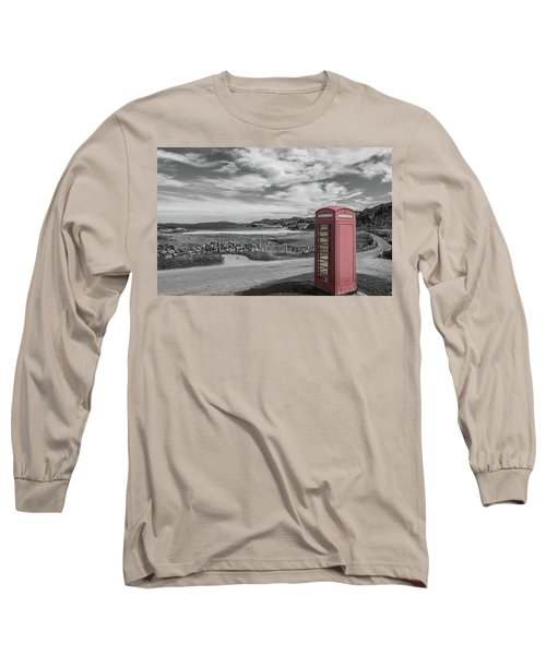 Lonely Phone Long Sleeve T-Shirt by Sergey Simanovsky