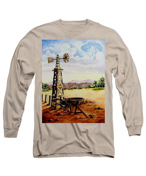 Lonesome Prairie Long Sleeve T-Shirt by Jimmy Smith