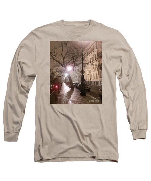 Long Cobblestone Street Of Prague Long Sleeve T-Shirt