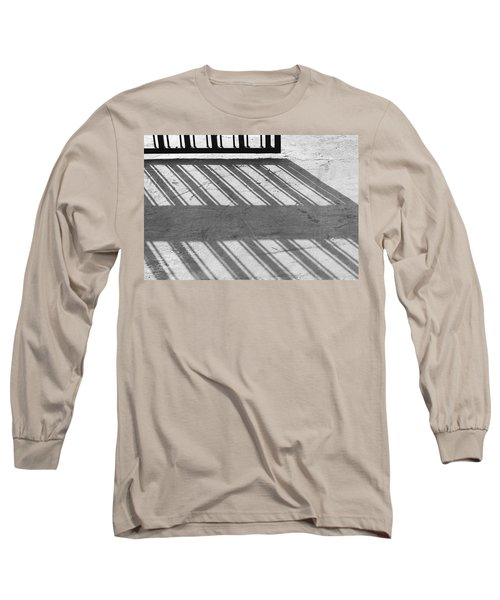 Long Sleeve T-Shirt featuring the photograph Long Shadow Of Metal Gate by Prakash Ghai