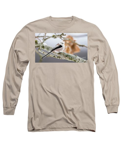 Long-tailed Tit Long Sleeve T-Shirt by Torbjorn Swenelius