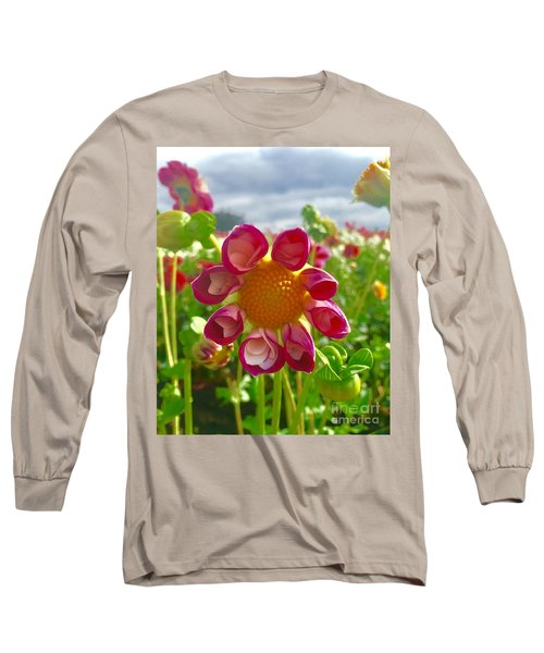 Look At Me Dahlia Long Sleeve T-Shirt by Susan Garren