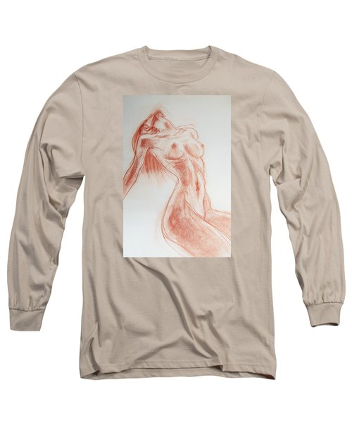 Long Sleeve T-Shirt featuring the drawing Look At Me Now by Jarmo Korhonen aka Jarko
