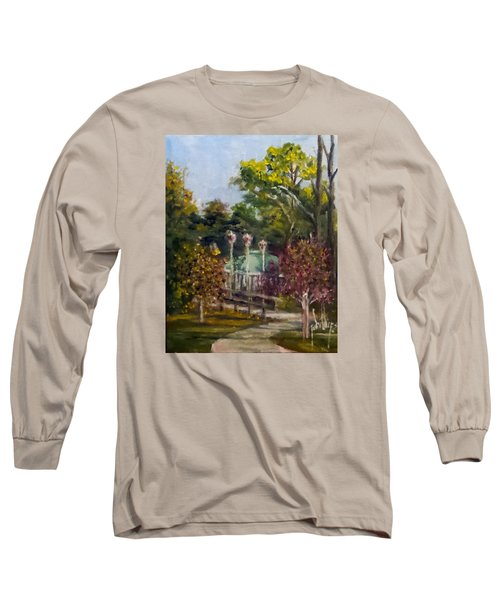 Long Sleeve T-Shirt featuring the painting Looking Back At The Vietnam Memorial by Jim Phillips