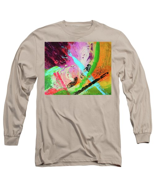 Long Sleeve T-Shirt featuring the painting Looking Back by Everette McMahan jr