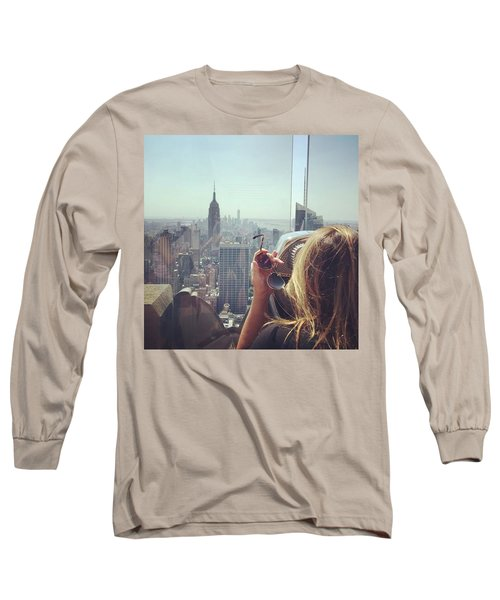 Looking Downtown In Style. #nyc Long Sleeve T-Shirt