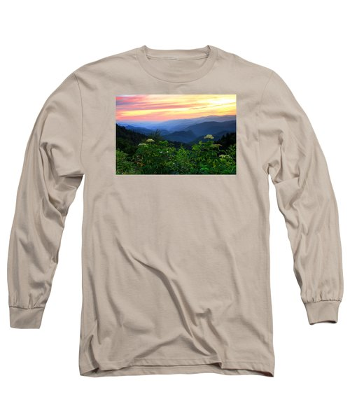 Looking Out Over Woolyback On The Blue Ridge Parkway  Long Sleeve T-Shirt