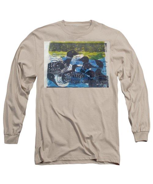 Loon, I See Long Sleeve T-Shirt by Cynthia Lagoudakis