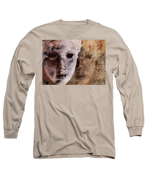 Long Sleeve T-Shirt featuring the digital art Loosing The Real You Behind The Mask by Gun Legler