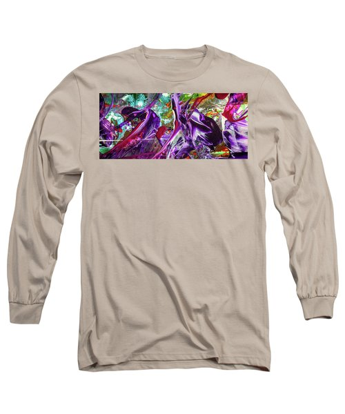 Lord Of The Rings Art - Colorful Modern Abstract Painting Long Sleeve T-Shirt