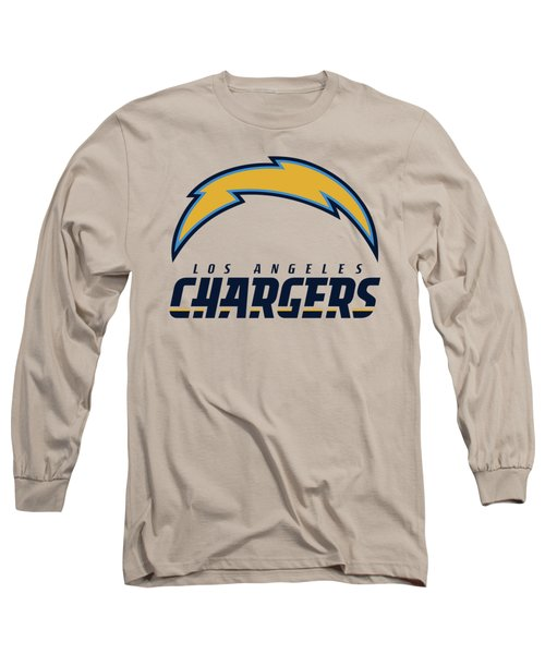 Los Angeles Chargers On An Abraded Steel Texture Long Sleeve T-Shirt