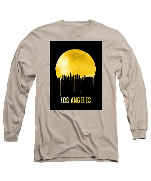 Los Angeles Skyline Yellow Long Sleeve T-Shirt