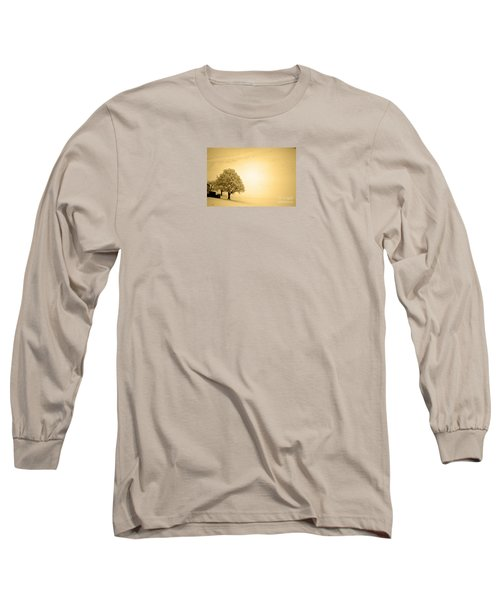Long Sleeve T-Shirt featuring the photograph Lost In Snow - Winter In Switzerland by Susanne Van Hulst