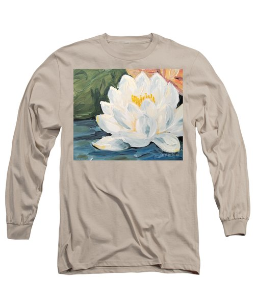 Long Sleeve T-Shirt featuring the painting Lotus by Maria Langgle
