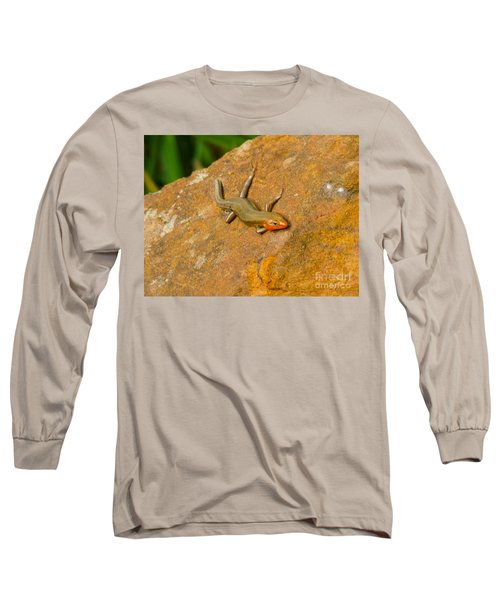 Long Sleeve T-Shirt featuring the photograph Lounging Lizard by Rand Herron