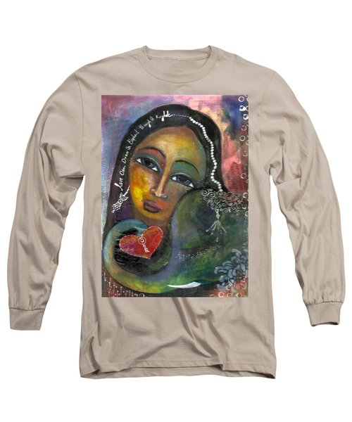 Long Sleeve T-Shirt featuring the painting Love Can Draw An Elephant Through A Key Hole by Prerna Poojara