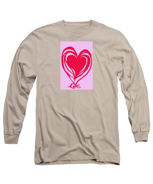 Long Sleeve T-Shirt featuring the digital art Love by Mary Armstrong