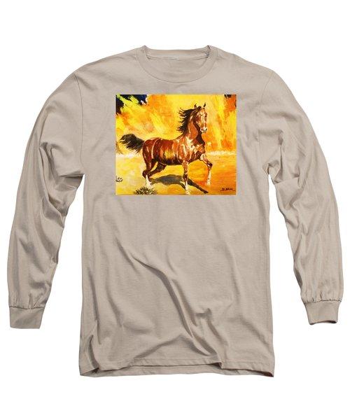 Lone Mustang Long Sleeve T-Shirt by Al Brown